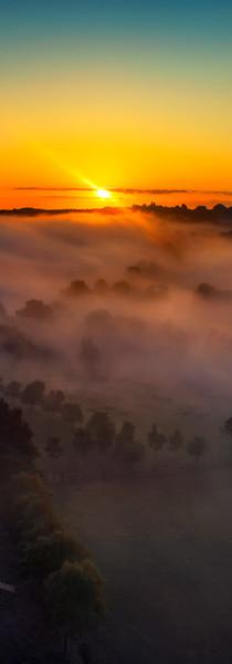 Sunrise over Normandy