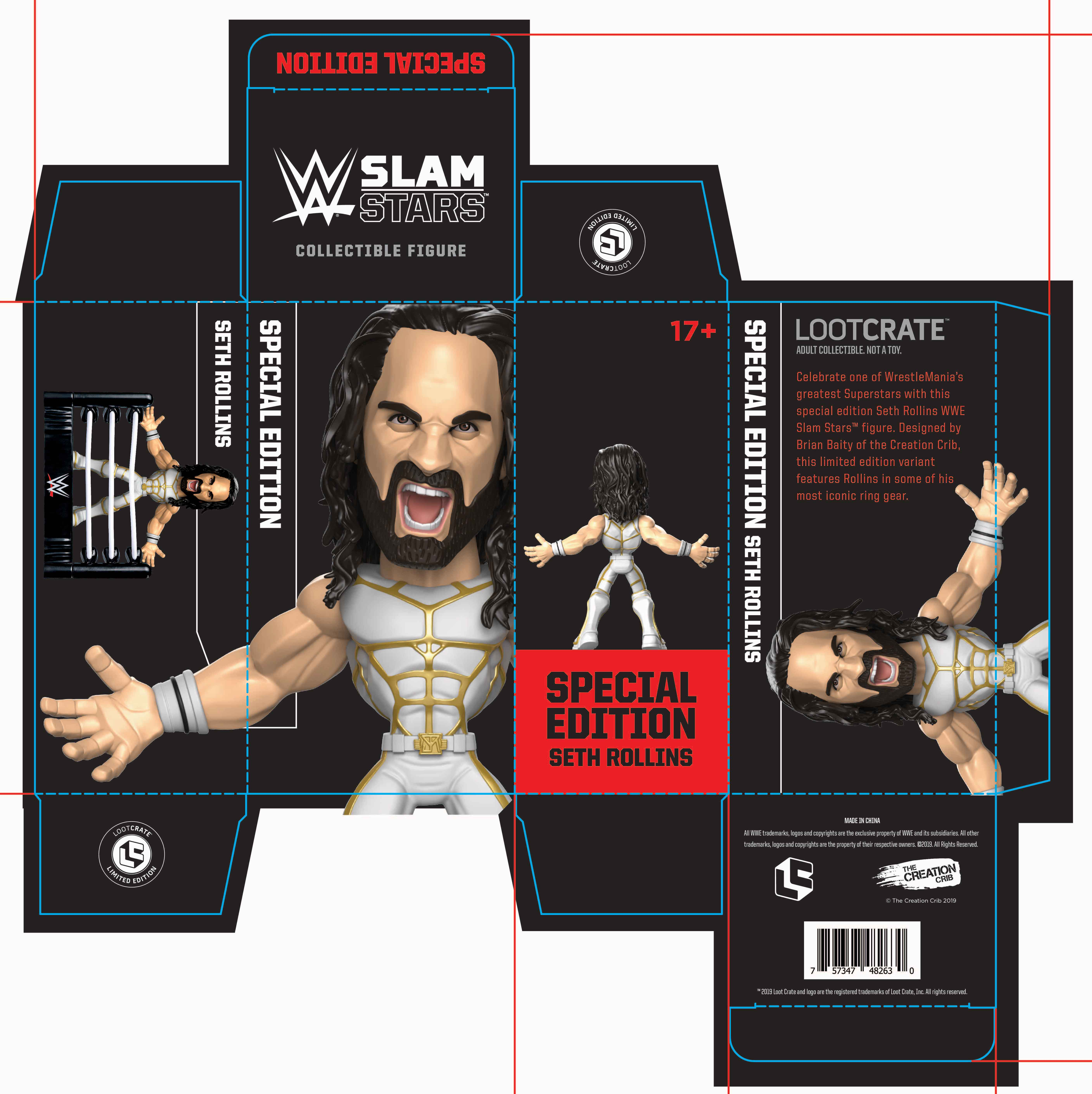Seth Freakin' Rollins action figure packaging