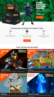 Ninja Turtles Limited Edition Crate Series website marketing copy
