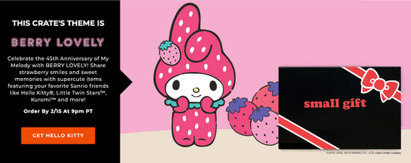 Hello Kitty and Friends Crate marketing copy