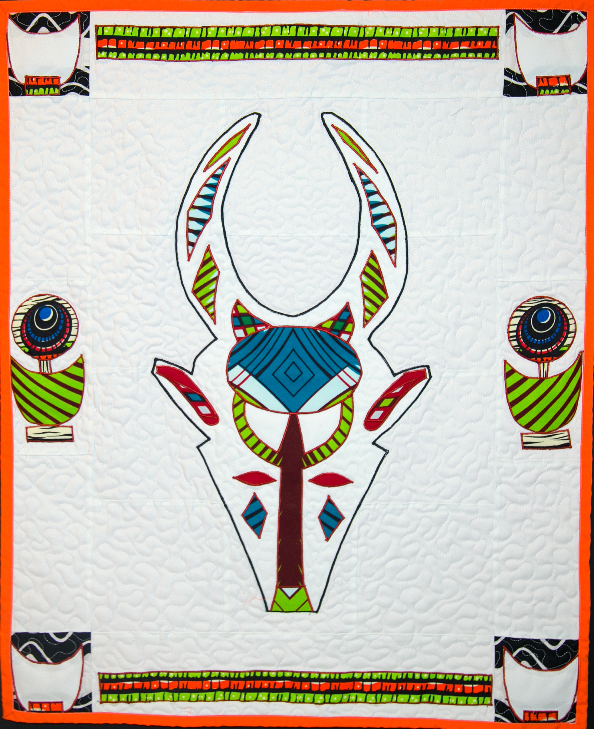 Bovid Mask w Burkina Faso Border 4