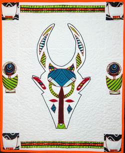 Bovid Mask w Burkina Faso Border #4