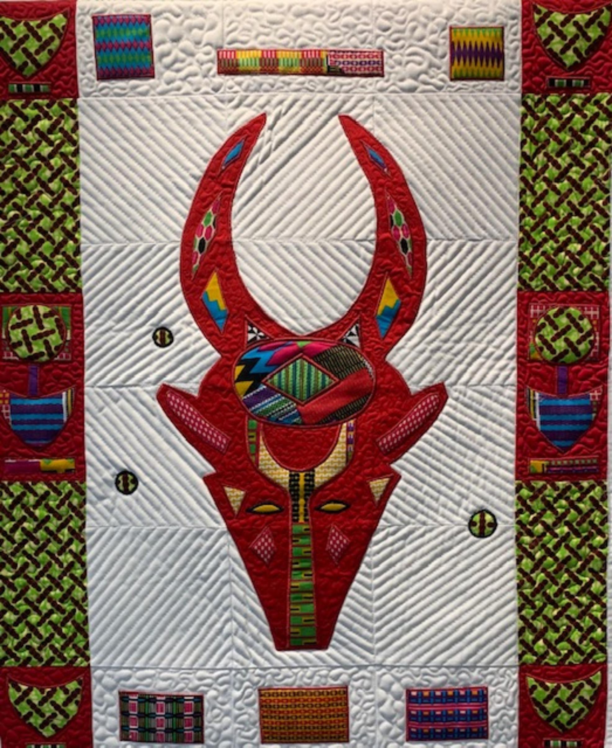 Bovid Mask with Burkina Faso Border #5