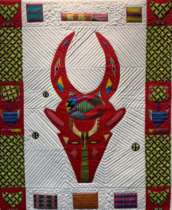 Bovid Mask with Burkina Faso Border #5