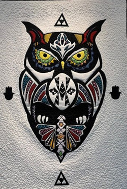 The Owl (White and Black)