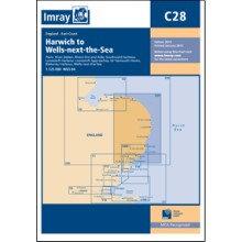 CARTE IMRAY C28 ANGLETERRE CÔTE EST: HARWICH TO WELLS-NEXT-THE-SEA