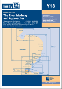 CARTE IMRAY Y18 THE RIVER MEDWAY AND APPROACHES SHEERNESS TO ROCHESTER AND RIVER