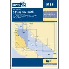 CARTE IMRAY M33 ADRIATIC ITALY NORTH / CÔTE ADRIATIQUE D'ITALIE PARTIE NORD