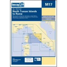 CARTE IMRAY M17 ITALIE: NORTH TUSCAN ISLANDS TO ROME / DE L'ÎLE D'ELBE À ROME