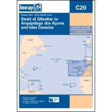 CARTE IMRAY C20 STRAIT OF GIBRALTAR TO ARQUIPELAGO DOS AÇORES AND ISLAS CANARIES