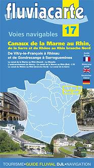 GUIDE FLUVIACARTE N° 17 CANAUX DE LA MARNE AU RHIN