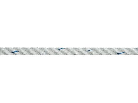 blanc et ligné bleu 6mm