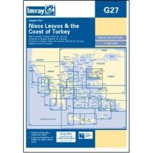 CARTE IMRAY G27 GRÈCE: NISOS LESVOS AND THE COAST OF TURKEY / LESBOS ET LA CÔTE
