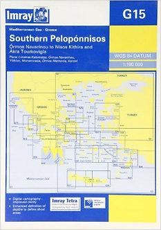 CARTE IMRAY G15 GRÈCE: SOUTHERN PELOPONNISOS / PELOPONNÈSE PARTIE SUD