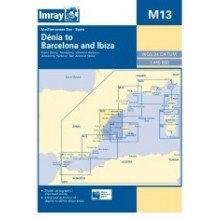CARTE IMRAY M13 ESPAGNE ET BALÉARES: DENIA TO BARCELONA & IBIZA