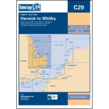 CARTE IMRAY C29 ANGLETERRE CÔTE EST: HARWICH TO WHITBY