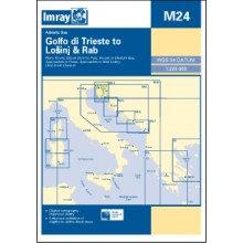 CARTE IMRAY M24 CROATIE: GOLFO DI TRIESTE TO LOSINJ & RAB / ISTRIE