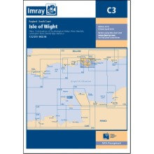 CARTE IMRAY C3 ANGLETERRE: ISLE OF WIGHT AND THE SOLENT