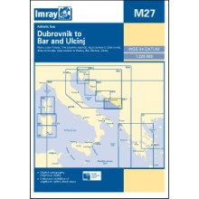 CARTE IMRAY M27 CROATIE PARTIE SUD: DUBROVNIK TO BAR & ULCINJ