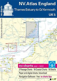 NV. ATLAS UK5 ENGLAND THAMES ESTUARY TO GREAT YARMOUTH