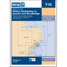 CARTE IMRAY Y16 ANGLETERRE: WALTON BACKWATERS TO IPSWICH AND WOOLBRIDGE