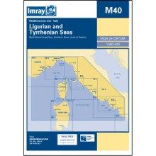CARTE IMRAY M40 ITALIE: LIGURIAN & TYRRHENIAN SEAS / MERS LIGURIENNE ET TYRRHÉNI