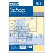 CARTE IMRAY G39 GRÈCE DODECANESE: NISOS KARPATHOS TO NISOS RODHOS / RHODES