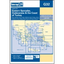 CARTE IMRAY G32 GRÈCE / TURQUIE: EASTERN SPORADES, DODECANESE & THE COAST OF TUR