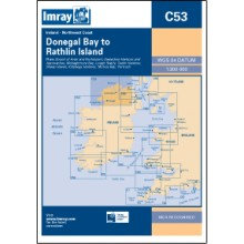 CARTE IMRAY C53 IRLANDE: DONEGAL BAY TO RATHLIN ISLAND