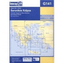 CARTE IMRAY G141 GRÈCE: SARONIKOS KOLPOS, CORINTH CANAL TO AKRA SOUNIO AND NISOS