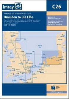 CARTE IMRAY C26 PAYS BAS / ALLEMAGNE: IJMUIDEN TO DIE ELBE