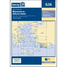 CARTE IMRAY G36 TURQUIE: MARMARIS TO GEYIKOVA ADASI SOUTH COAST OF TURKEY
