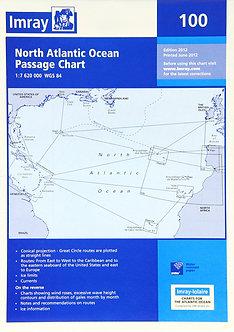 CARTE IMRAY 100 NORTH ATLANTIC OCEAN PASSAGE CHART