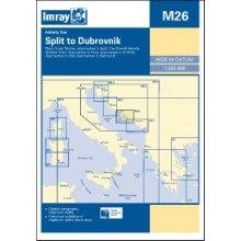 CARTE IMRAY M26 CROATIE: SPLIT TO DUBROVNIK