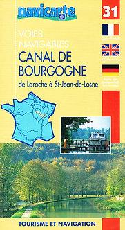CARTE FLUVIACARTE N° 31 CANAL DE BOURGOGNE