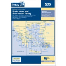 CARTE IMRAY G35 GRÈCE / TURQUIE: DODECANESE AND THE COAST OF TURKEY