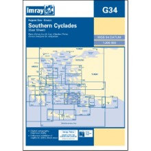 CARTE IMRAY G34 GRÈCE: SOUTHERN CYCLADES (EAST SHEET / PARTIE EST)