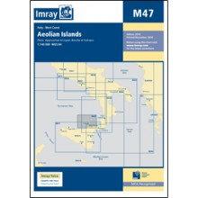 CARTE IMRAY M47 SICILE: AEOLIAN ISLANDS / ILES EOLIENNES / LIPARI