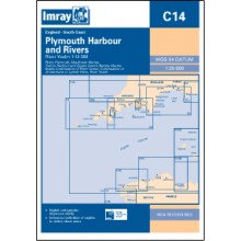 CARTE IMRAY C14 ANGLETERRE: PLYMOUTH HARBOUR AND RIVERS