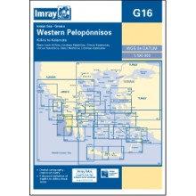 CARTE IMRAY G16 GRÈCE: WESTERN PELOPONNISOS / PÉLOPONNÈSE PARTIE OUEST