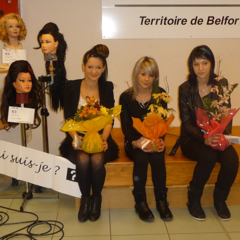 premier prix : Elisa Lenot, apprenti CAP du salon Métamorphose Coiffure Salon de l'Artisanat, ATRIA.