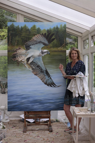 Morning Catch - Osprey over water - SOLD