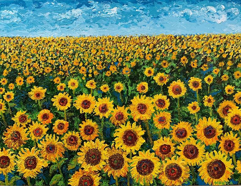 Monica List Sunflowers Painting