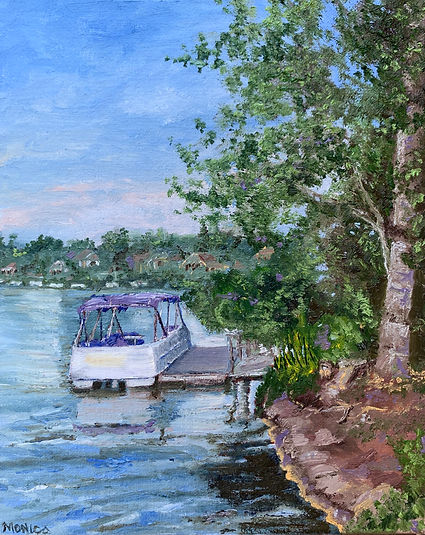 Monica List painting of Lakeside Cruiser