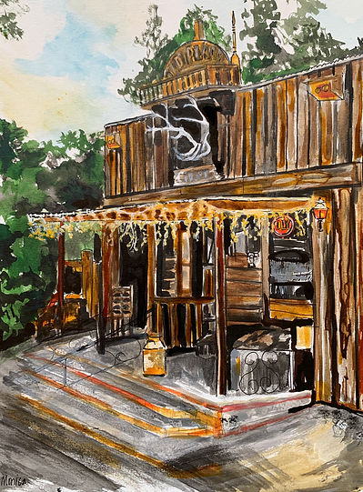 Monica List Painting of The Old Place