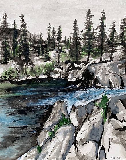 Monica List painting of Mammoth Lake
