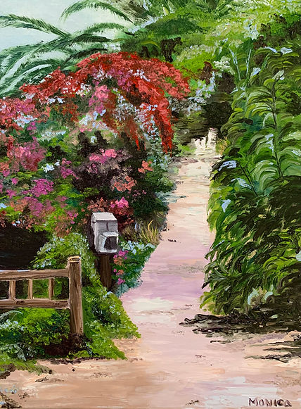 Monica List painting of path to beach