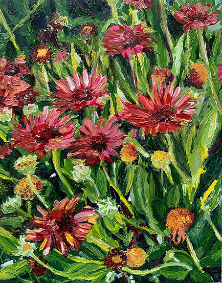 Monica List painting of flowers