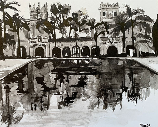 Monica List painting of Balboa Park