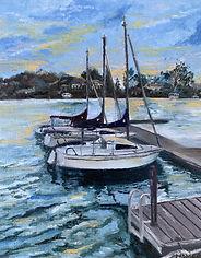 Monica List-Sunset Dock
